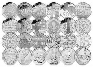 CHEAPEST 50P COLLECTORS COLLECTION COINS   OLYMPICS BEATRIX POTTER KEW GARDENS