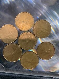 CANADA ONE DOLLAR COIN SET OF 7