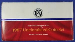 1987 U. S. MINT SET 10 COINS UNCIRCULATED IN ORIGINAL PACKAGING  014