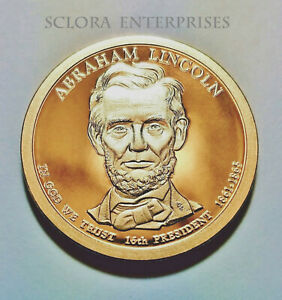 2010 S ABRAHAM LINCOLN PRESIDENTIAL   PROOF  DOLLAR COIN