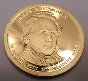 2010 S JAMES BUCHANAN PRESIDENTIAL   PROOF  DOLLAR COIN