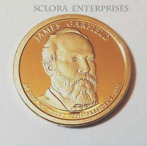 2011 S JAMES GARFIELD PRESIDENTIAL   PROOF  DOLLAR COIN