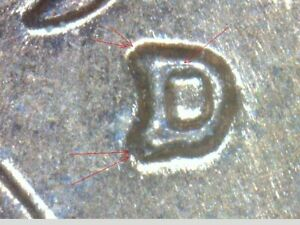 1961 D LINCOLN CENT   WITH NICE REPUNCHED MINTMARK   RED BU   LOOK   V1014