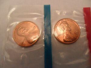 1977 P & D LINCOLN MEMORIAL CENT / PENNY SET  MINT CELLO  SDS  FREE SHIP