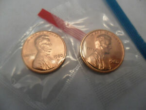 1980 P & D LINCOLN MEMORIAL CENT / PENNY SET  MINT CELLO  SDS  FREE SHIP
