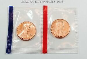 1987 P & D LINCOLN MEMORIAL CENT / PENNY SET   MINT CELLO