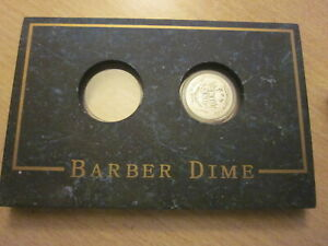 CIRCULATED 1911 BARBER DIME FAIR CONDITION IN CASE