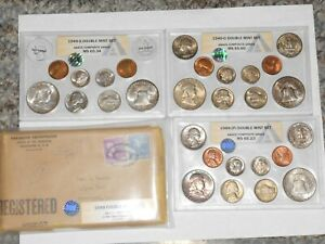 Click now to see the BUY IT NOW Price! 1949 DOUBLE US MINT SET ANACS GRADED  ALL ORIGINAL PACKAGING