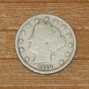 1910 US LIBERTY V NICKEL SILVER 5 FIVE CENT COIN CIRCULATED
