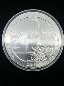 2014 AMERICA THE BEAUTIFUL ATB 5OZ SILVER FLORIDA EVERGLADES COIN