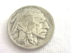 1935 BUFFALO NICKEL    5 CENTS  NICE CLEAR  DATE       8.8/17
