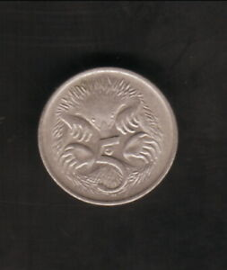 AUSTRALIA  1982  5 CENTS COIN  SPINY ANTEATER