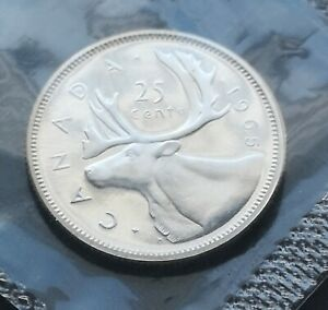 CANADA  25 CENTS  1965      PROOF  LIKE  SEALED  COIN