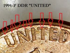 1994 P LINCOLN CENT DDR USA & ONE CENT  ERROR