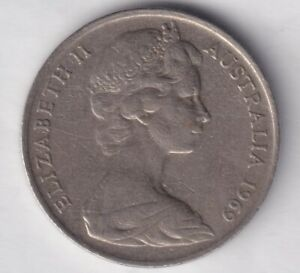 1969 AUSTRALIAN 10 CENT COIN   LOW MINTAGE   KEY DATE    2