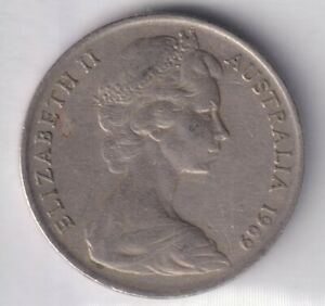1969 AUSTRALIAN 10 CENT COIN   LOW MINTAGE   KEY DATE    5