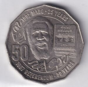 2017 AUSTRALIAN 50 CENT COIN 1967 REFERENDUM/25TH ANNIVERSARY MABO DECISION EF 6