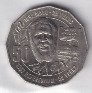 2017 AUSTRALIAN 50 CENT COIN 1967 REFERENDUM/25TH ANNIVERSARY MABO DECISION EF 4