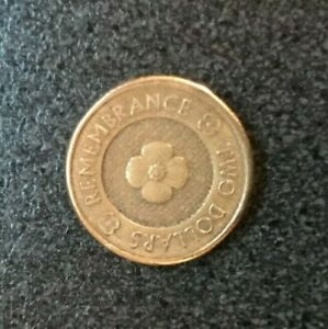 2012 $2 COIN TWO DOLLARS AUSTRALIA REMEMBRANCE GOLD POPPY     CIRCULATED