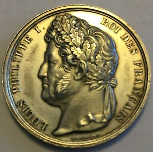 FRANCE KING LOUIS PHILIPPE I  1830  1848  37MM SILVER MEDAL BY DEPAULIS INV 3491