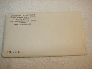 1971 U.S. MINT SET. ISSUED BY US MINT. ENVELOPE SEALED / UNOPENED.