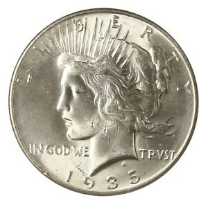 RAW 1935 PEACE $1 UNCERTIFIED UNGRADED US MINT SILVER DOLLAR COIN