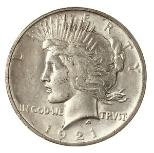 RAW 1921 PEACE $1 UNCERTIFIED UNGRADED US MINT SILVER DOLLAR COIN