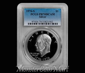Click now to see the BUY IT NOW Price! 1976 S SILVER EISENHOWER DOLLAR PCGS PR70DCAM   BLUE LABEL