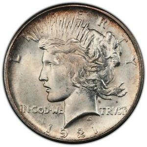 Click now to see the BUY IT NOW Price! 1921 $1 PEACE DOLLAR   TYPE 1 HIGH RELIEF PCGS MS66  CAC