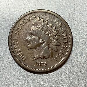 1872 INDIAN CENT   GOOD    KEY DATE