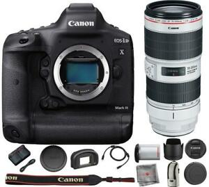 CANON EOS 1D X MARK III DSLR CAMERA WITH CANON EF 70 200MM F/2.8L IS III LENS