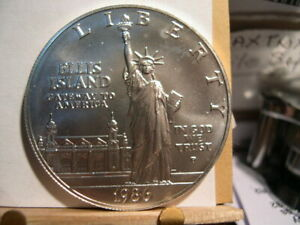1986 P STATUE OF LIBERTY COMMEMORATIVE SILVER DOLLAR BU ERROR RPM PHOTO'S
