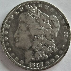 1887/7 O MORGAN SILVER DOLLAR   APPEARS TO BE ERROR IN DATE