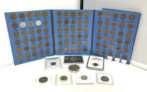 US COLLECTION WHEAT CENT SET NGC ERROR PCGS IKE PROOF 90  SILVER JUNK DRAWER LOT