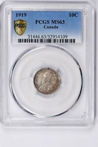 1919 CANADA 10 CENTS PCGS MS 63 WITTER COIN