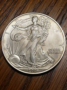 2006 AMERICAN SILVER EAGLE ONE TROY OUNCE .999   UNCIRCULATED