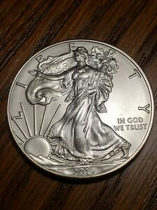 2019 SILVER EAGLE BU MINT TUBE .999 SILVER UNCIRCULATED LOOK WOW