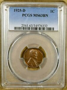1925 D PCGS MS63 BN LINCOLN CENT