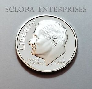 2003 S ROOSEVELT  90  SILVER PROOF  DIME
