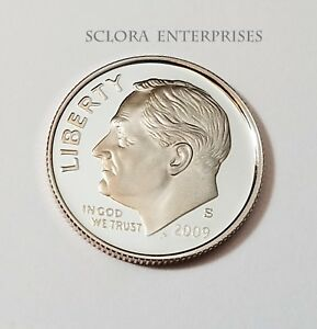 2009 S ROOSEVELT  90  SILVER PROOF  DIME