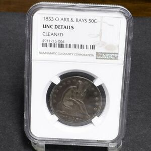 Click now to see the BUY IT NOW Price! 1853 O LIBERTY SEATED HALF DOLLAR   ARROWS & RAYS   NGC UNC DETAILS  29856