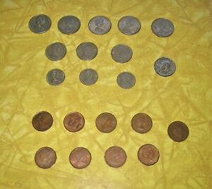 21 LOT CANADIAN COINS   1945 TO 2006   CANADA 1C 5C 10C 25C   1945 V CENTS