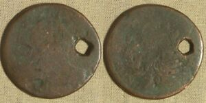 LARGE CENT: 180? BUST HOLED POOR