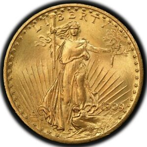 Click now to see the BUY IT NOW Price! 1909 $20 SAINT GAUDENS PCGS MS65