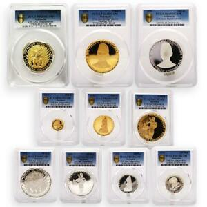 Click now to see the BUY IT NOW Price! INDONESIA SET OF 10 COINS 25TH ANNIVERSARY OF INDEPENDENCE PCGS PROOF COIN 1970