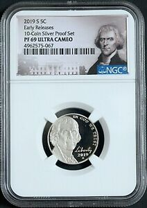 2019 S NGC PF 69 ULTRA CAMEO NICKEL FROM SILVER FROOF SET BIRTHDAY GIFT IDEA X
