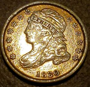 1830 CAPPED BUST DIME   SHARP LOOKING COIN