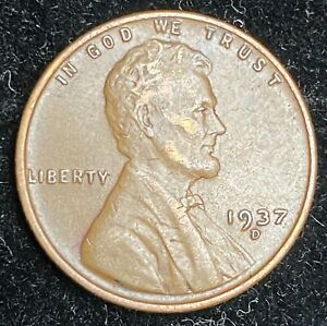 1937 D LINCOLN WHEAT PENNY  NICE COIN