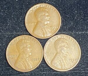 1936 PDS LINCOLN WHEAT PENNIES