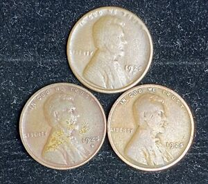 1925 P D S LINCOLN WHEAT PENNIES   2